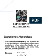 2.1 Expresiones Algebraicas (Polinomios)