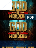 God of Wonders Day 5