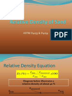 Relative Density of Sand