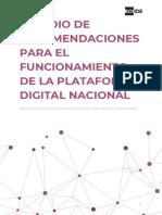 Estudio de Recomendaciones Para El Funcionamiento de La Plataforma Digital Nacional