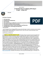 U.S. Navy Office of Naval Intelligence Worldwide Threat to Shipping (WTS) Report 10 April - 15 May 2019