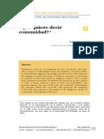2012-2013-Que quiere decir comunidad Rafael Bautista.pdf