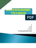 Irrigation Water Management [Adv