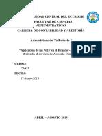 Aplicación de NIIF en el Ecuador