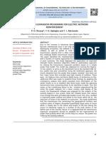 TRANSMISSION EXPANSION PROGRAMME FOR ELECTRIC NETWORK REINFORCEMENT