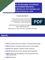 Ernesto San Martin Clasificacion de Escuelas en La Nueva Institucionalidad Educativa