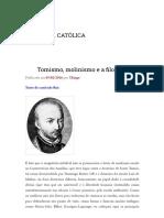 Tomismo, Molinismo e a Filosofia _ APOLOGÉTICA CATÓLICA