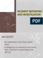 Incident Investigation and Reporting