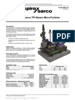 Spirax Sarco TR Steam MicroTurbine-Technical Information