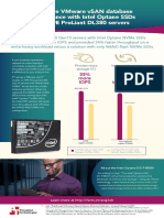 Intel Optane HPE ProLiant VMware vSAN Oracle workload testing - Infographic