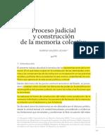 Proceso judicial y construcción de la memoria colectiva