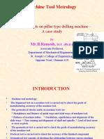 Alignment tests on pillar type drilling machine