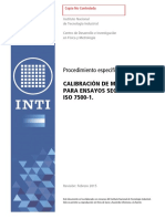 Procedimiento Específico_ Pem05f Calibración de Máquinas Para Ensayos Según Iso 7500-1. Copia No Controlada