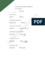 Fórmulas de Derivadas Algebraicas