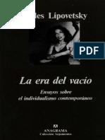 Lipovetsky, Gilles - La Era Del Vacío