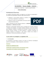 Ficha inf. Propriedade Industrial