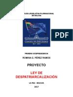 Propuesta de Proyecto de Ley de Despatriarcalizacion