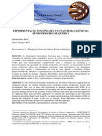 Melo, Reis - Unknown - Experimentação Com Ênfase Ctsa Na Formação Inicial de Professores de Química