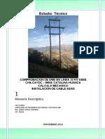 Comprobacion de DMS Linea 33kV Minera Catalina SCRIBD 2019