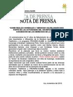 NOTA de PRENSA Exposicion