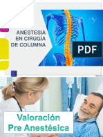 Anestesia Cx Columna