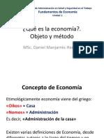 U1 Objeto Metodo Economia