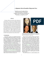 One Millisecond Face Alignment With an Ensemble of Regression Trees