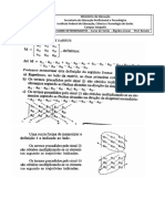 Exercícios Determinantes - Álgebra Linear - Logística