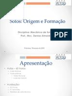 Aula 01_Solos_Origem e Formação