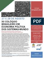COLOQUIO BRASILEIRO EM ECONOMIA POLITICA