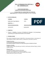 Informe fundicion de probeta con aliuminio