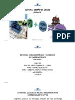 Aula 2 - Estudo Da Viabilidade Técnica e Econômica (Evte)