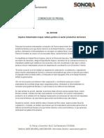 16-05-2019 Impulsa Gobernadora mayor certeza jurídica al sector productivo de Sonora