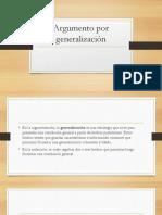 Argumento Por Generalización