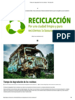 Tiempo de Degradación de Los Residuos - Reciclacción