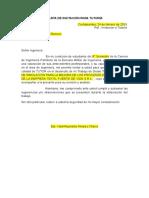 Carta de Invitación Para Tutoría Modelo