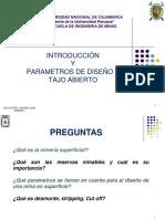 1.0 Introduccion y Parametros de Diseño a Tajo Abierto