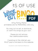 3. Inside Out Blank Bingo Set