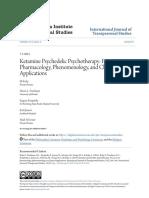 Ketamine Psychedelic Psychotherapy