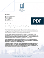 Mayor's letter to Premier regarding funding formula changes