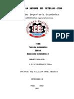 Economia Matematica II