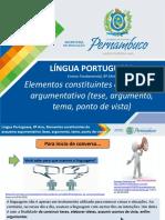 Elementos constituintes do esquema argumentativo (tese, argumento, tema, ponto de vista) (1).ppt