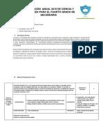 Planificación Anual 2019 - Cuarto de Secundaria - Biología