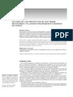 Caso 03 - Calidad de Los Proyectos de Software - Revisiones Utilizando Razonamiento Basado en Casos