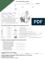 Evaluacion de Español III Periodo
