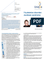 11q Deletion Disorder Jacobsen Syndrome FTNP