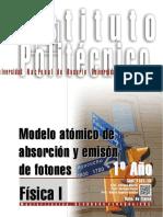 7101-15 FISICA Modelo Atómico de Absorción y Emisón de Fotones