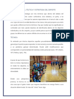 TÉCNICA,Tactica Del Deporte