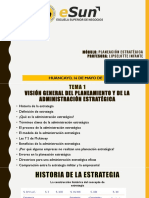 Visión General del Planeamiento y de la Administración Estratégica