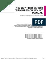IDc61960024-1994 audi 100 quattro motor and transmission mount manual